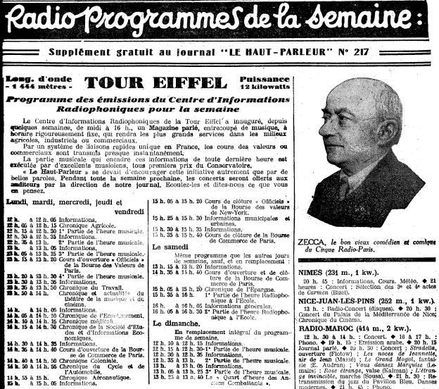 Radio programmes HP 1929