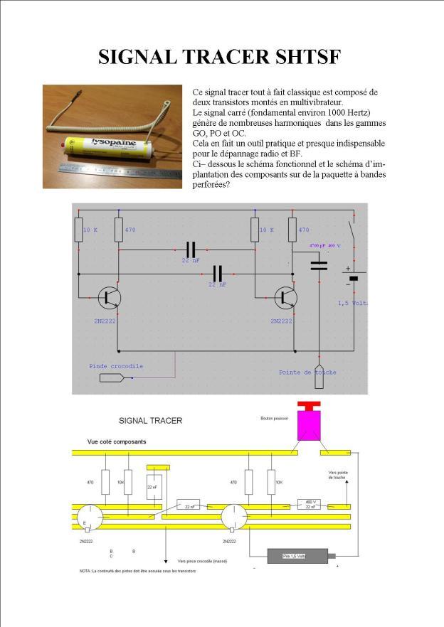 signal tracer transistors