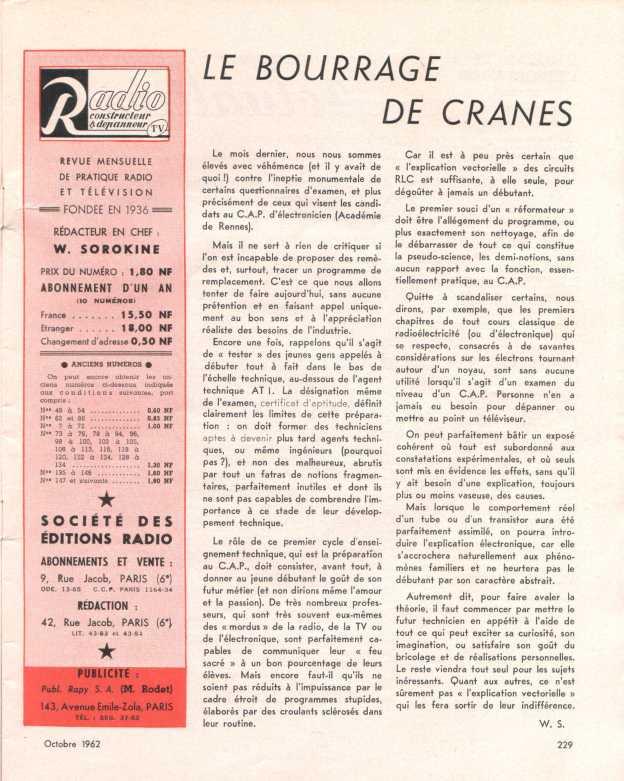 Bourrage de cranes