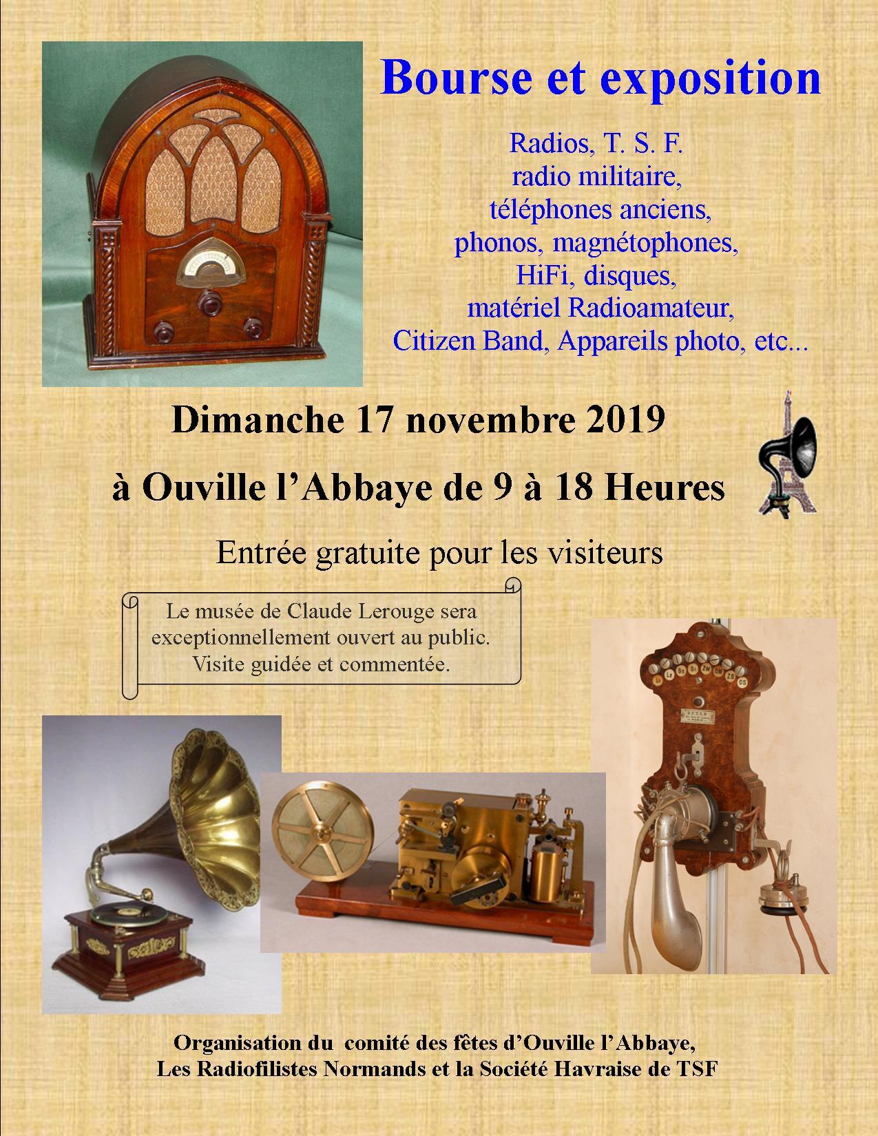 Bourse à Ouville l'Abbaye 17 novembre 2019